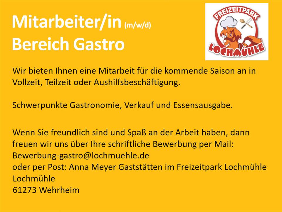 Lochmühle Personalanzeige Gastro